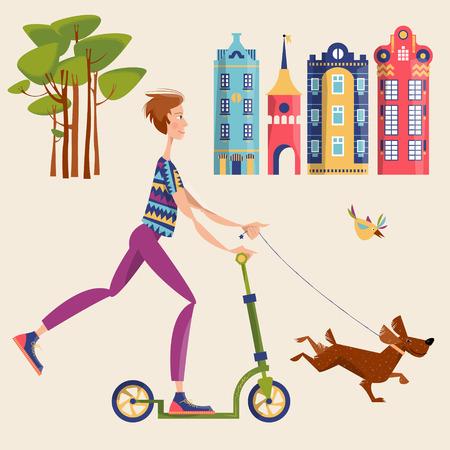Hunde Tretroller - Scooter für den Hund
